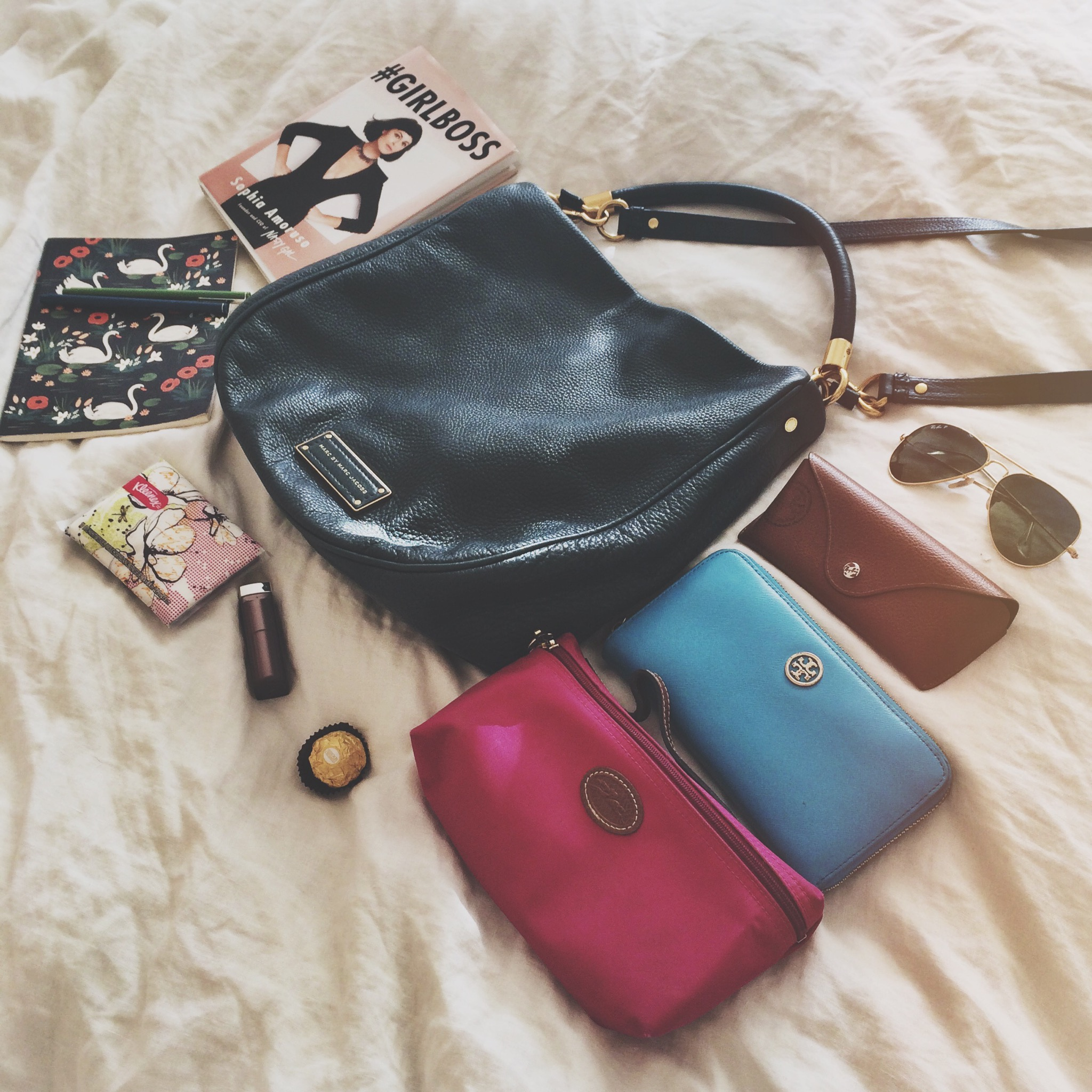 66a7b716484d This bag is hands down my favorite bag I own. It s the perfect size and fits  everything I need on a normal day. From makeup bags and books